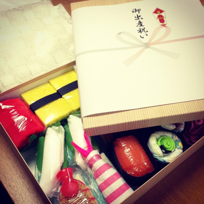 オススメの出産祝い♬ オムツ寿司はいかが??