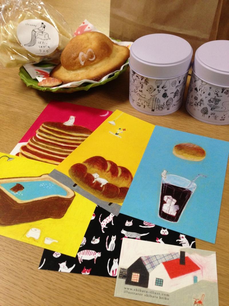 柴田ケイコさんの個展「こてんぱん」にて、和紙でパン作りしてきました