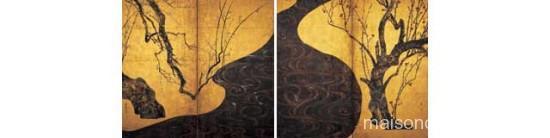 国宝 紅白梅図屏風 尾形光琳筆 MOA美術館蔵