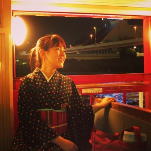 はとバスで満喫♬ 夜の隅田川花見船と千鳥ヶ淵の桜 // 着物でお出かけ♬
