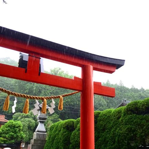 奈良県 吉野 天川村にて 嵐の「天河神社」宵宮祭