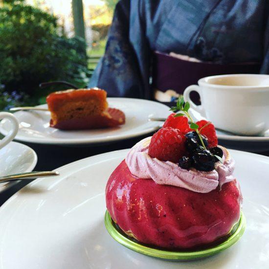 クラブハリエ 日牟禮館 中庭のテラス席が気持ち良いカフェで食べる絶品ケーキ(滋賀県 近江八幡)