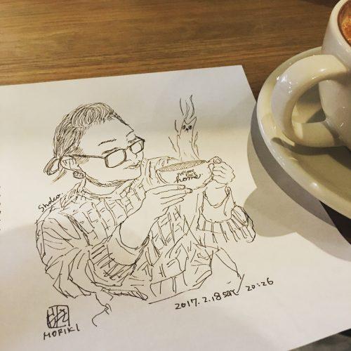 ライブスケッチイベント『ペンの走る音』@ Neighborhood and Coffee 初台1丁目店