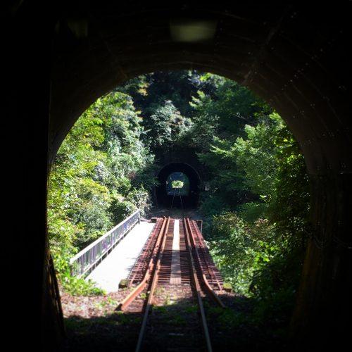 奥出雲への電車の中からの風景