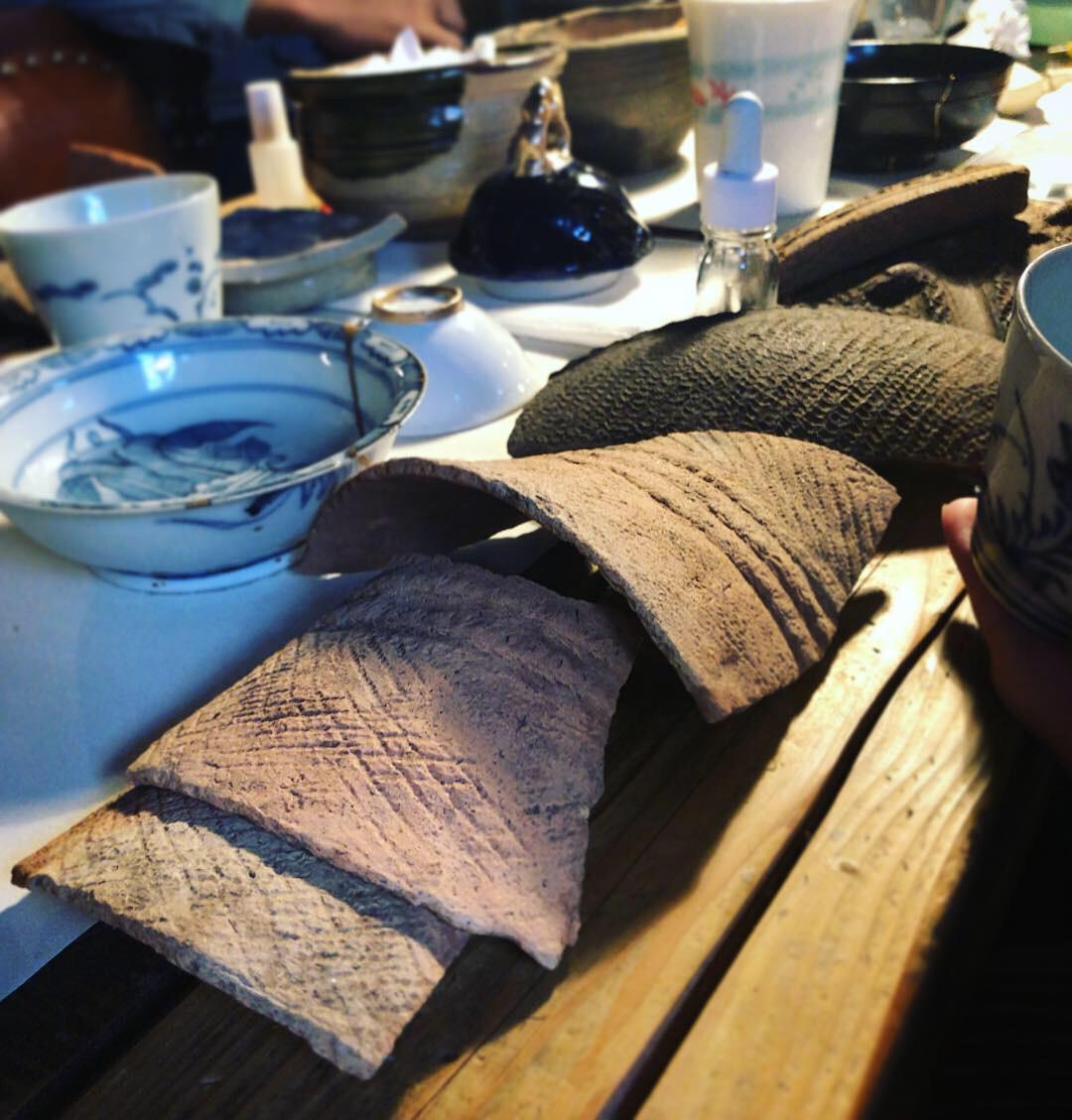 縄文土器片
